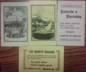 "Flyers for the Apple Annual in 1911. Who doesn't wanted to go to an event touted as ""Instructive and Entertaining?"""